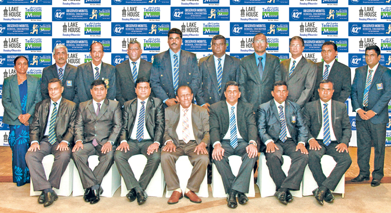 The selection panel that picked the winners of the Sunday Observer-Mobitel School Cricketer of the Year contest.