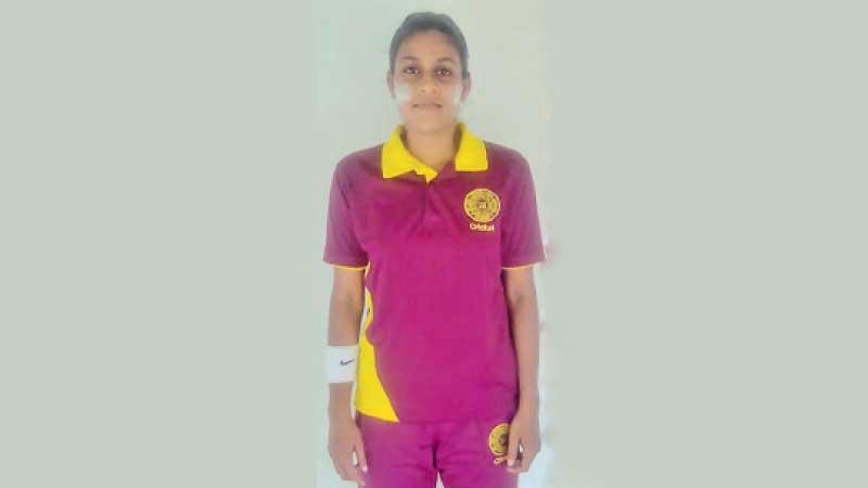 Observer-Mobitel Most Popular Schoolgirl Cricketer of the Year Nimesha Wijesundara