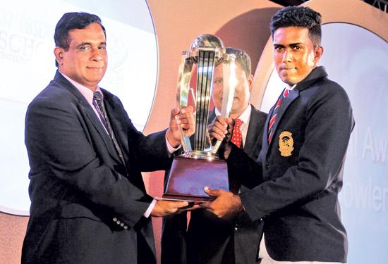 Best bowler National award. Asitha Madusanka Fernando ( St.Sebastian's, Katuneriya)