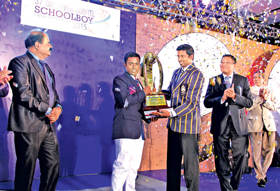 Charith Asalanka of Richmond College, Galle who won the prestigious Schoolboy Cricketer Of The Year