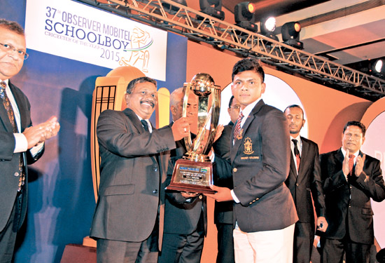 Platinum Best fielder; Kavinda Ratnayake of Dharmaraja College, Kandy