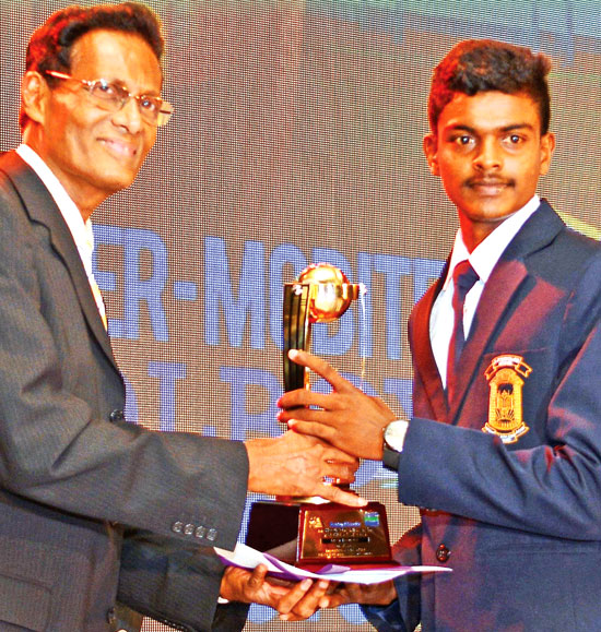 W.A.Fernando of St. Peter's College, Negombo Best Bowler Division III