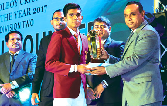 Division 2 Best All-Rounder. Damith Sampath of Siri Piyaratana, Padukka