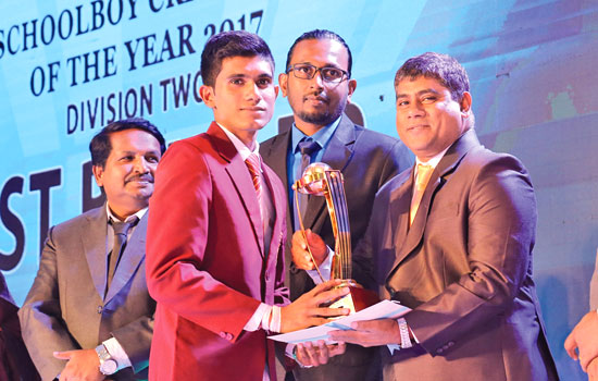 Division 2 Best Bowler Dimith Sampath of Siri Piyarathana MV, Padukka