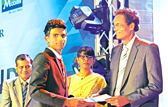 Best All-rounder Runner-Up Division 3, Heshan Ratnayake of Bandarawela Central