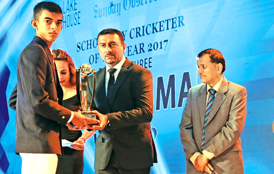 Division three Best Batsman, Kalhara Shaminda of Kirindiwela MV