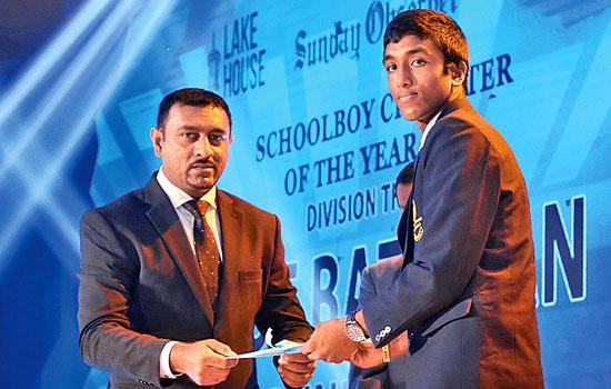 Best Batsman Runner Up division 3. Chamod Sandaru of Piliyandala MV
