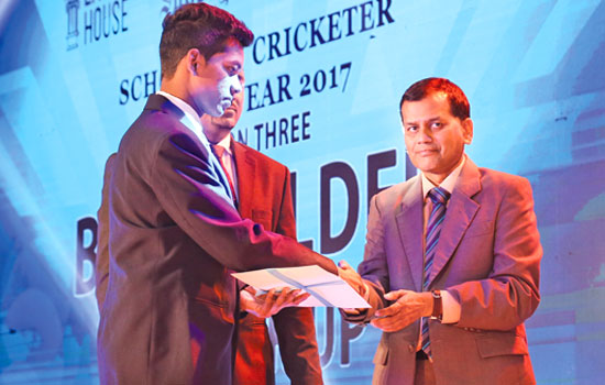 Division three Best Fielder Runner-Up Sandaken Jayaweera of Dudley Senanayake Vidyalaya ,Tholangamuwa
