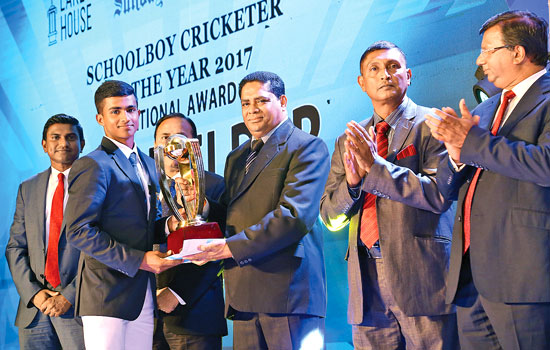 National Award Best Fielder Ashen Bandara of St.Aloysius College, Galle
