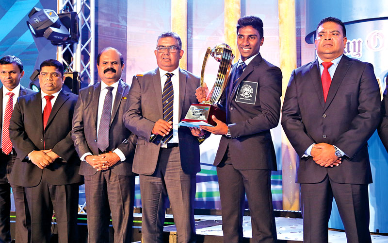 Nipun Ransika of P. de S. Kularatne College, Ambalangoda who won the Observer - Mobitel Schoolboy Cricketer of the Year