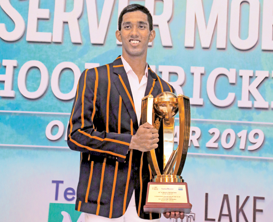 Observer Mobitel Schoolboy Cricketer of the Year 2019 Kamil Mishara of Royal College, Colombo. (Pictures by Rukmal Gamage and Chinthaka Kumarasinghe)