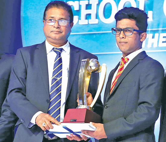 Northern Province Best School Runner-up Award being received by St. Patrick's College Jaffna