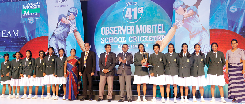 Best School Girls team of the year 2019 Runner-up - Rathnawali Balika Vidyalaya, Gampaha